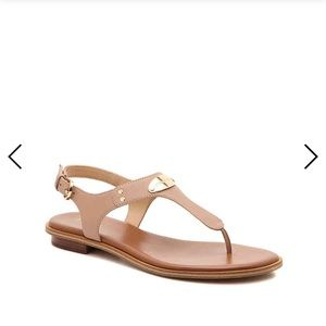 Michael Kors brown sandals with gold NEVER WORN